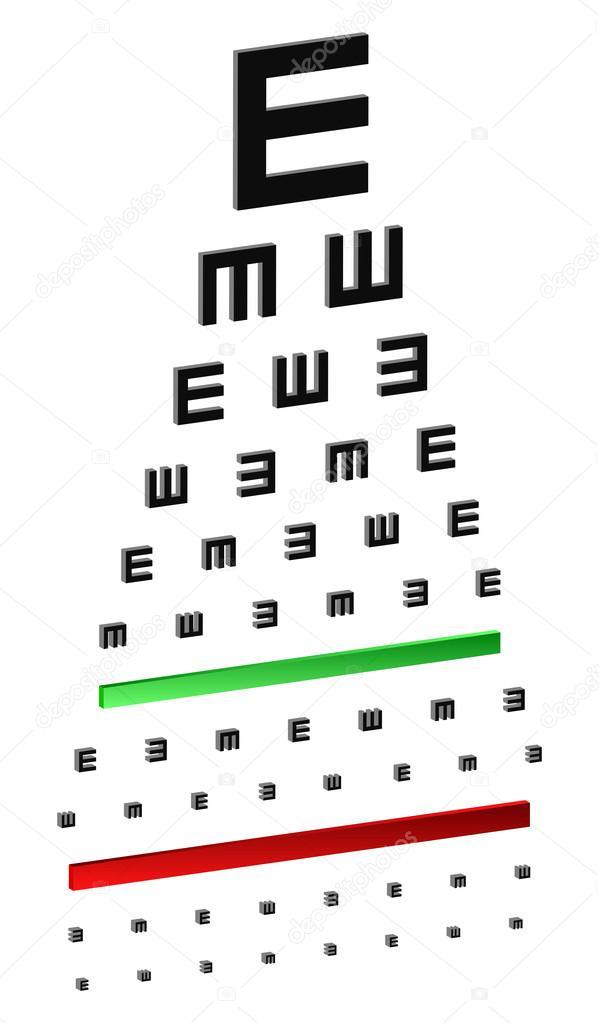 test graphique classique des yeux pour les jeunes enfants image vectorielle radub85 42510497. Black Bedroom Furniture Sets. Home Design Ideas