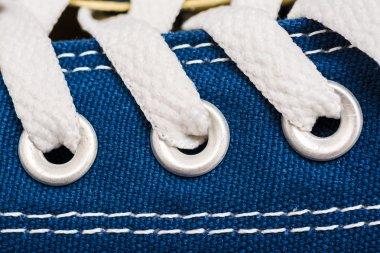 Blue Sneakers Shoe Laces