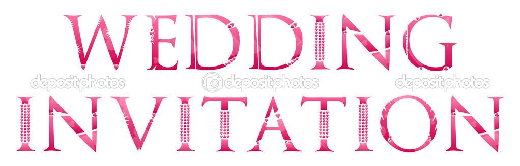 Wedding Invitation Word Concept Stock Vector radub85 43420509