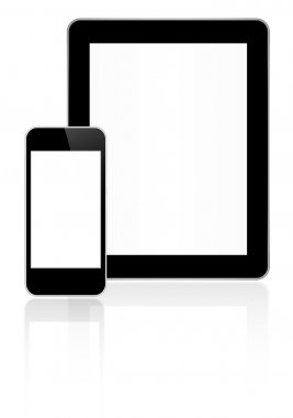 Black Business Tablet And Smart Phone