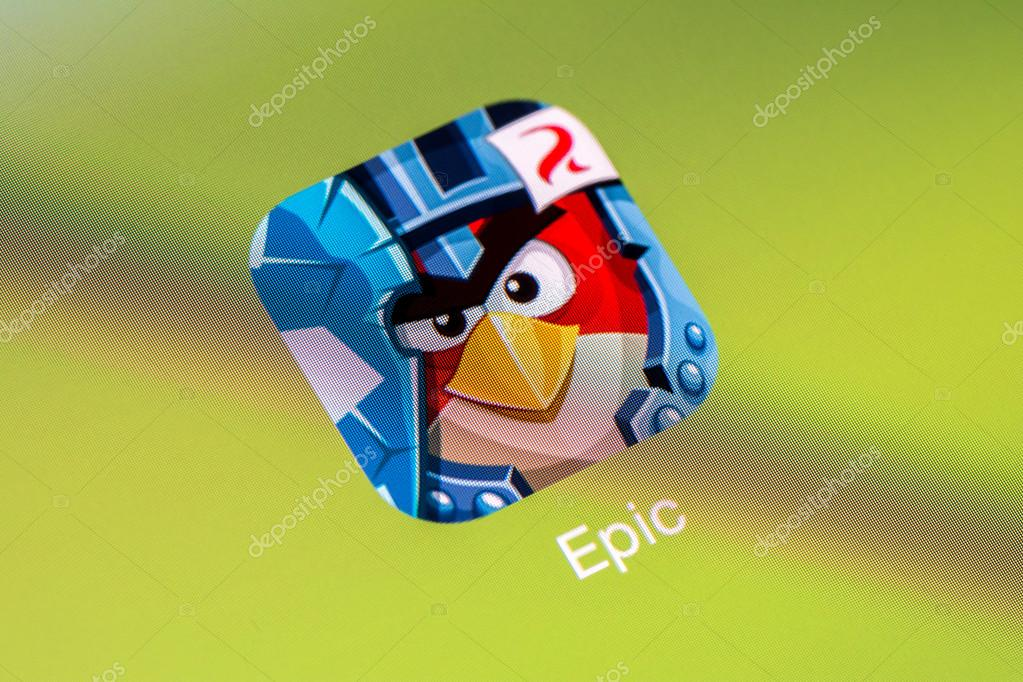 Angry Birds Epic On Apple iPad Air – Stock Editorial Photo