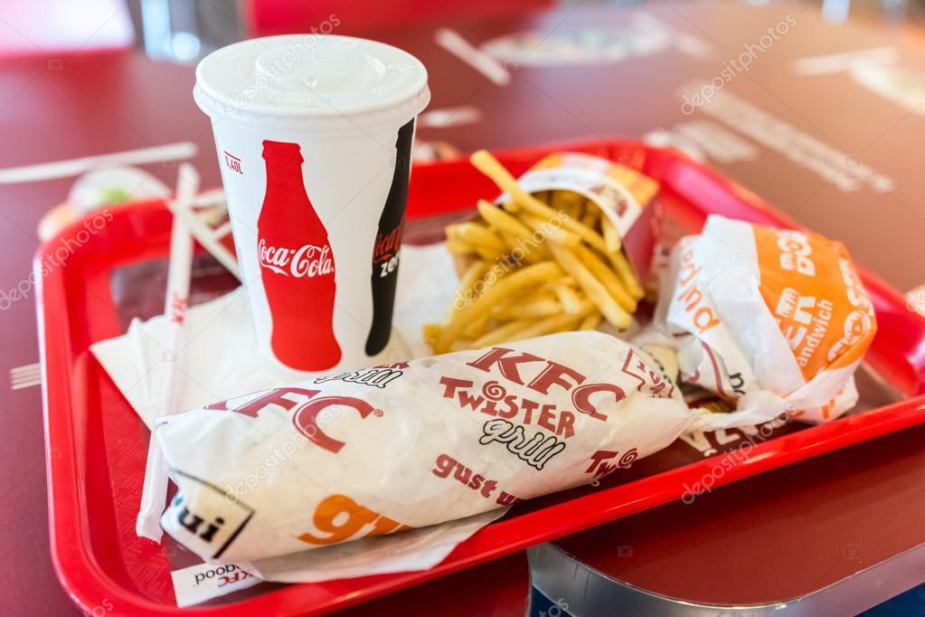 Kentucky Fried Chicken Restaurant Menu Stock Editorial Photo