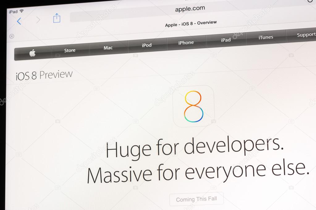 The New Apple Operating System iOS 8 – Stock Editorial Photo