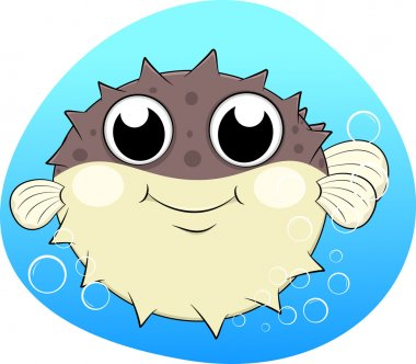 Puffer fish,Blow fish With bubles