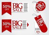 Eladó kártya piros promóciós százalékos kiskereskedelmi