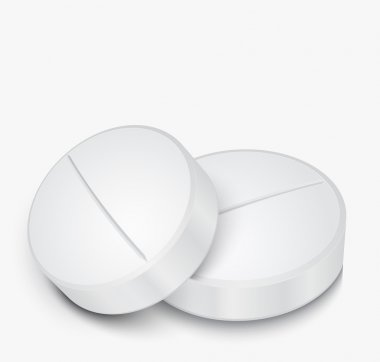 White Pill on gray background