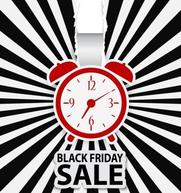 Black friday sale design with alarm clock