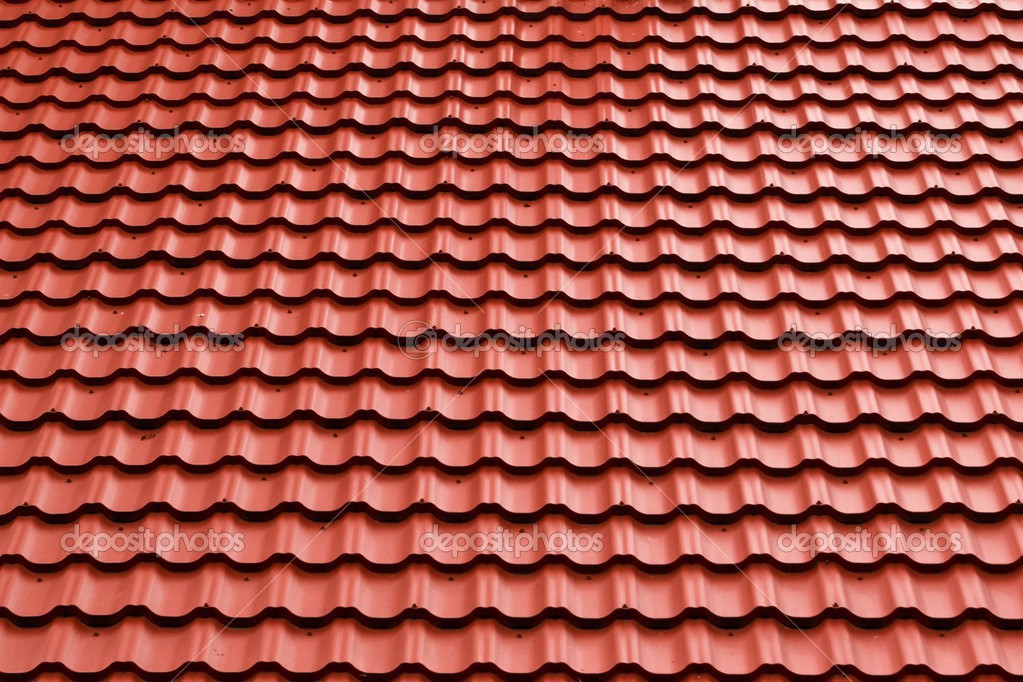 Achtergrond Wallpaper Rode Dakpannen Stockfoto