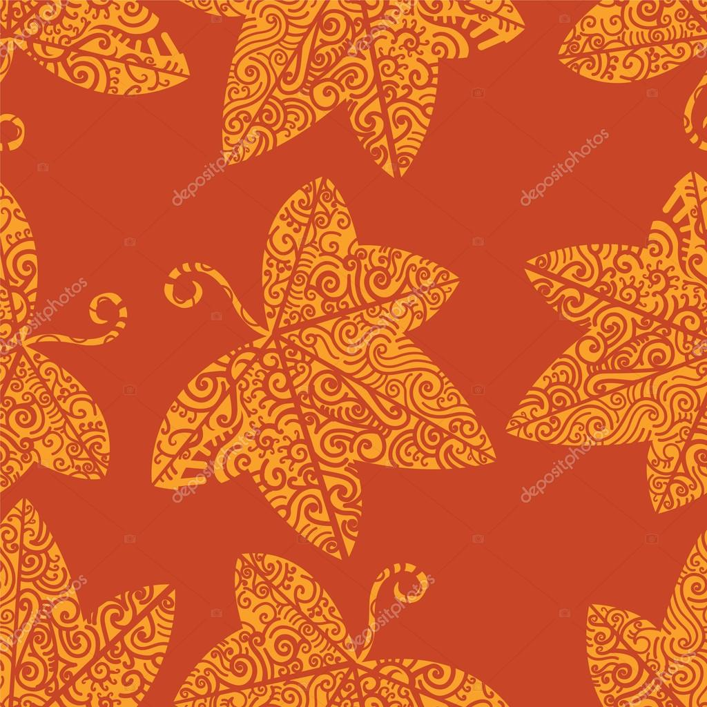 Tribal tattoo pattern. Ivy leaf