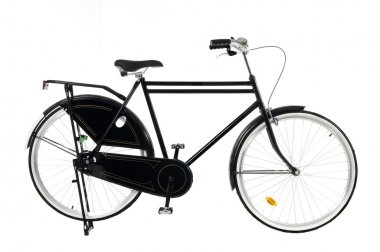 Retro style bicycle isolated on a white background