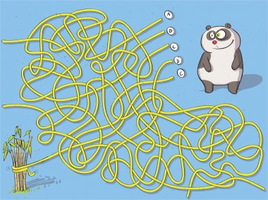 Panda Maze Game