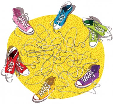Sneakers Maze Game