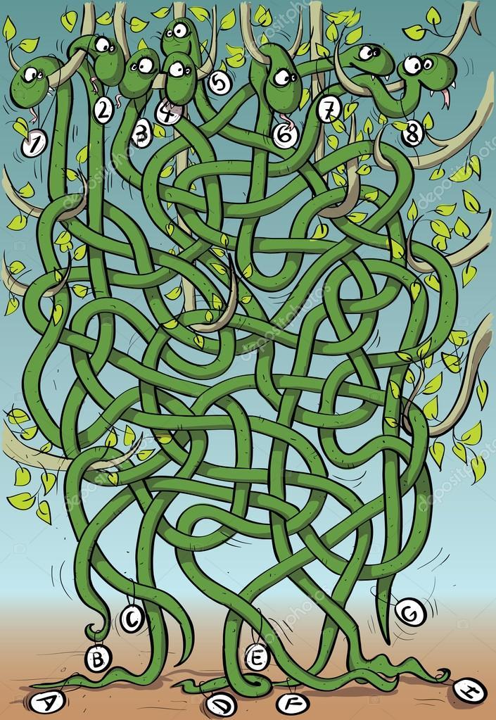 Картинка змей лабиринт