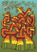 žirafy bludiště hra