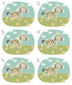 Zebra visuellen Spiel