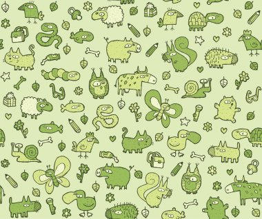 Animals Texture seamless pattern for kids