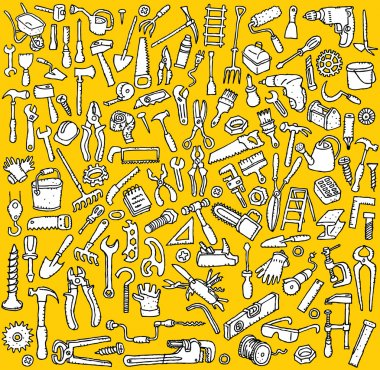 Big Tools Icons Collection in black and white