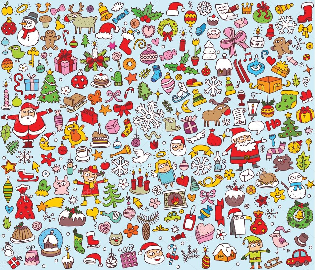 Big Christmas Collection of fine small hand drawn illustrations