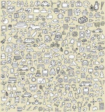 XXL Doodle Icons Set No.3