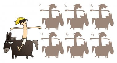 Horse Mirror Image Visual Game
