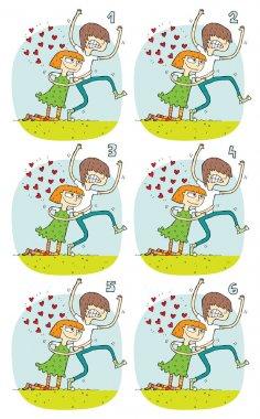 Match Pairs Visual Game: Romance