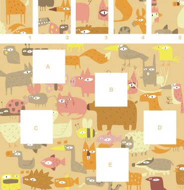 Match pieces, visual game