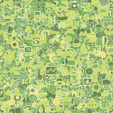 Ecology seamless pattern