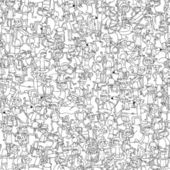 Fotografie Dance party seamless pattern in black and white