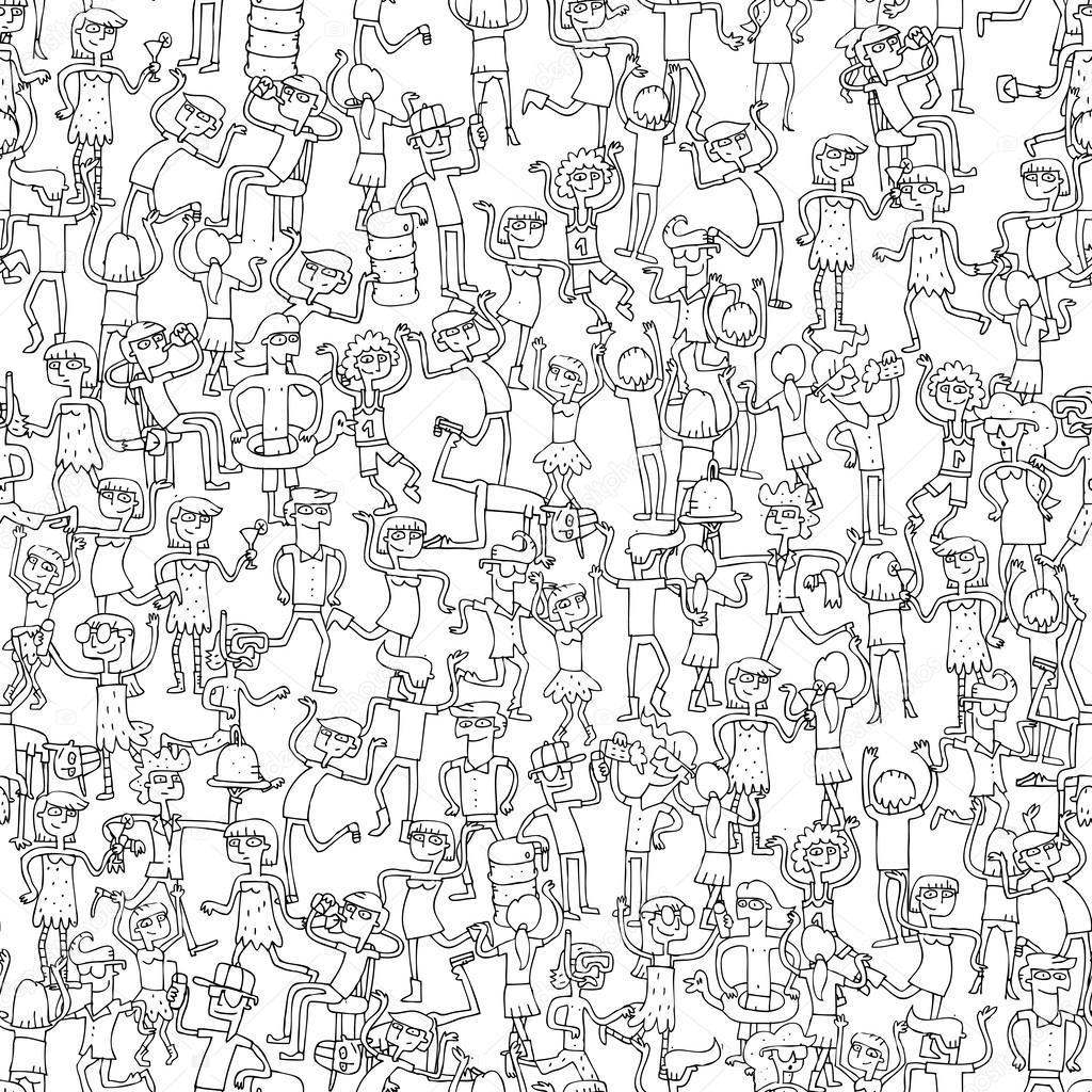 baile de patrones sin fisuras partido en blanco y negro — Vector de ...