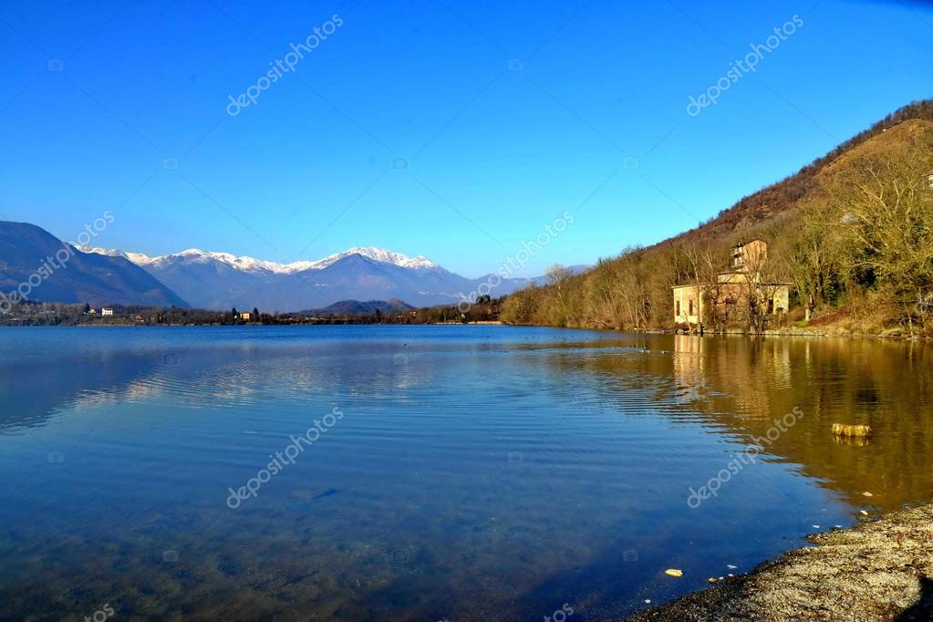 Sagra di San Michele. avigliana lake. torino. italy — Stock Photo ...