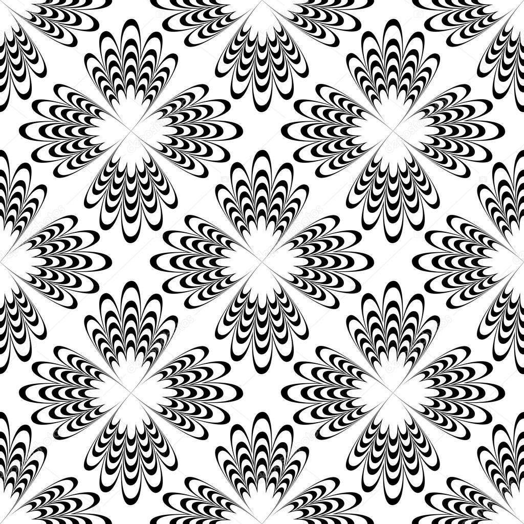 abstracto blanco y negro sin costura — Archivo Imágenes Vectoriales ...