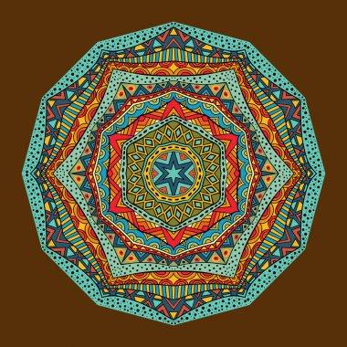 Bright Ethnic Geometric Pattern