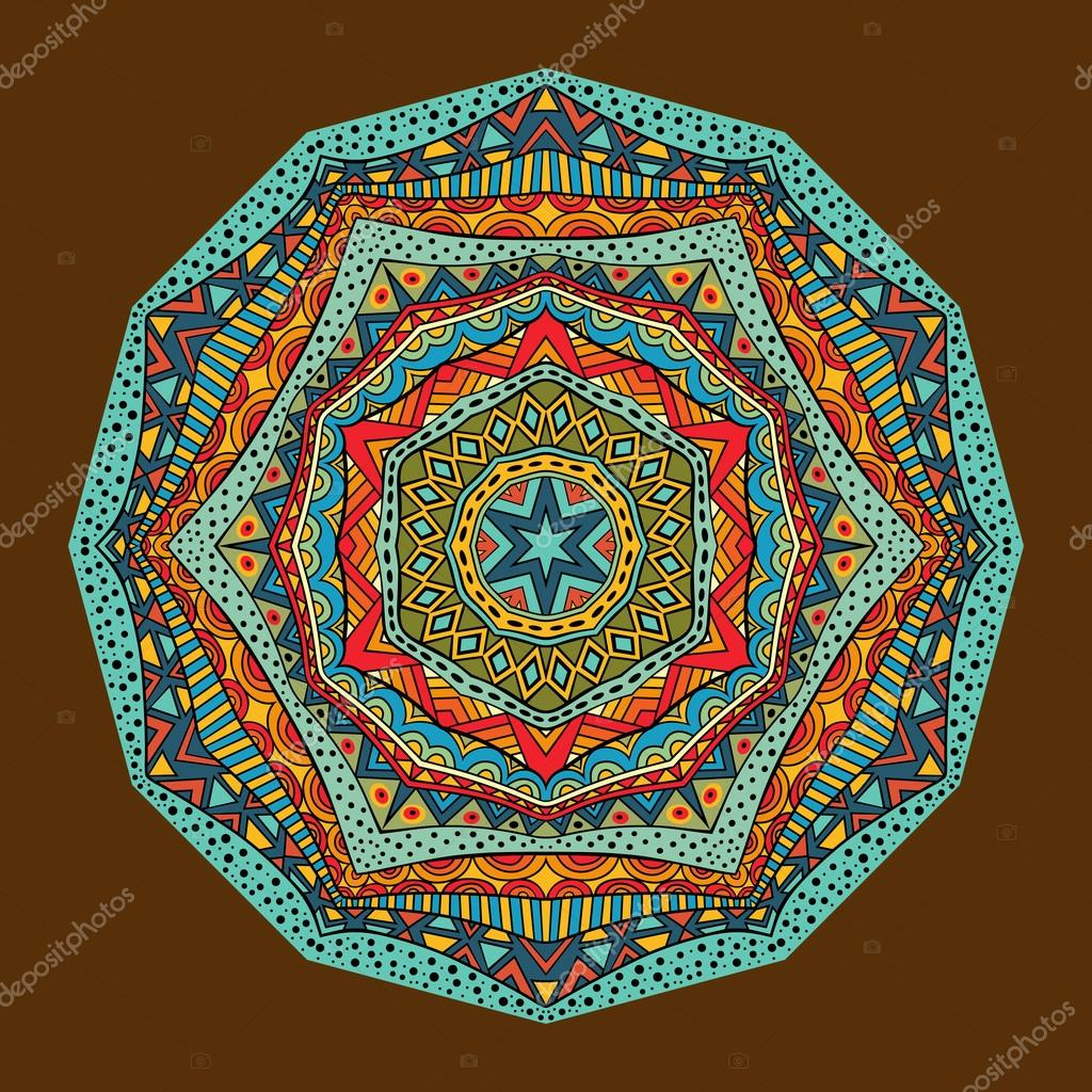 Bright Ethnic Geometric Pattern