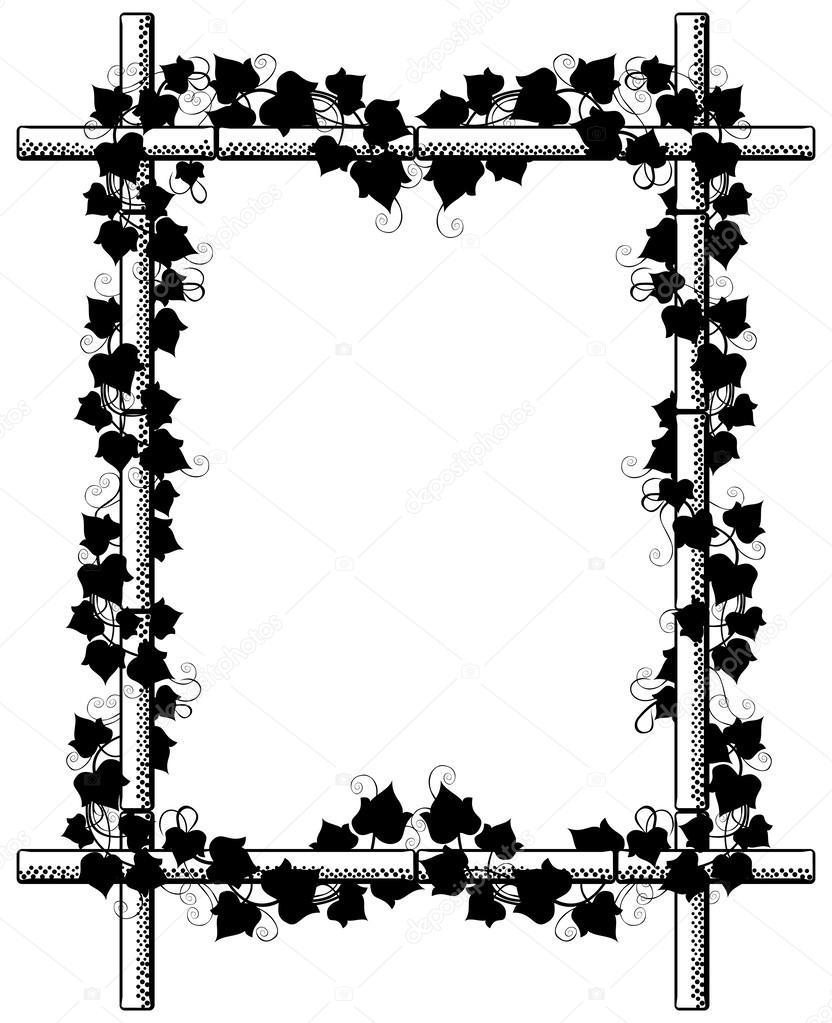 Efeu um Bambus-Rahmen — Stockvektor © KsanasK #47755535