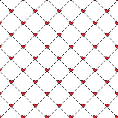 Seamless heart pattern for design and blog stock vector