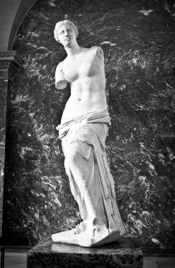 Aphrodite of Milos sculpture in Louvre, Paris, France