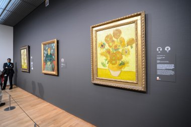 Sunflowers by Vincent Van Gogh in Van Gogh museum in Amsterdam