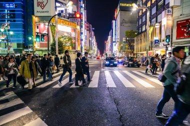 Night time in Tokyo, Japan