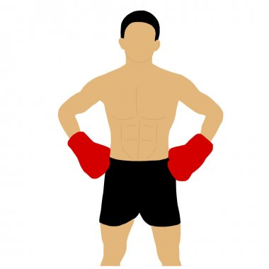 Boxer with glove on waist