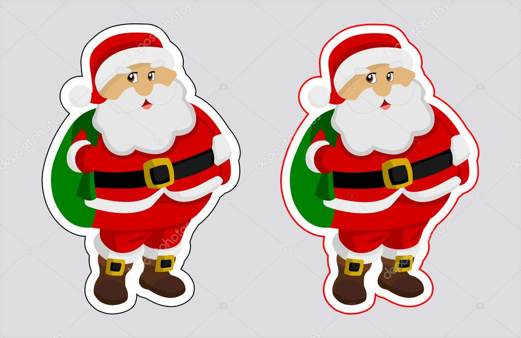 A sticker santa claus with outline color — Stock Vector © hurgem ...