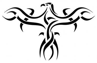 Tattoo of an eagle egyptian hieroglyph