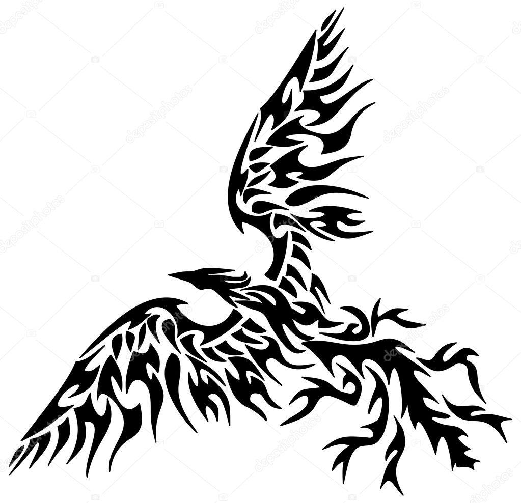 F nix tribal tatuagem vetor de stock hurgem 38471905 for Fenix tribal tattoo