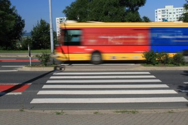 short pedestrian crossing in Brno, Czech Republic