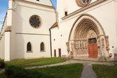 detail portálu porta coeli. gotický portál románsko gotická bazilika Nanebevzetí Panny Marie, Česká republika, postavený v roce 1230, unesco