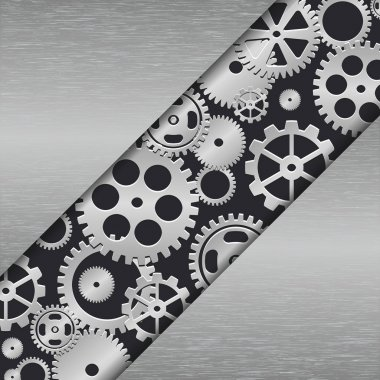 Technology metal background with gears.