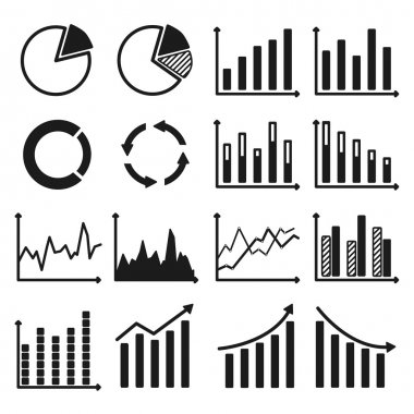 Infographic icons - charts and graphs.