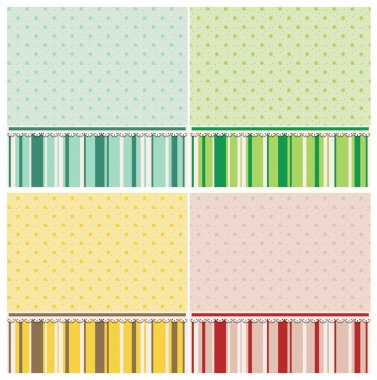 Cute backgrounds in different colors.