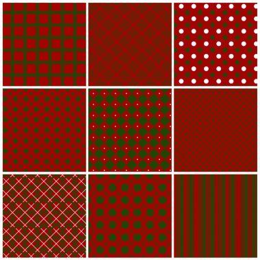 Christmas seamless patterns. Vector set 1.
