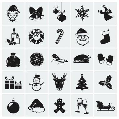 Christmas icons. Vector illustration.