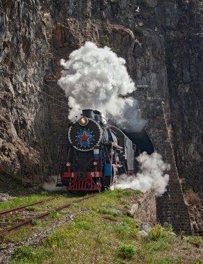 Locomotive on Circum-baikal railway